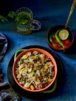 Mushroom Matar Pulao Recipe, How To Make Matar Mushroom Rice