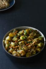 Moongphali Aloo Ki Sabzi, Peanut Potato Stir Fry