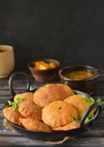 Bedmi Poori Recipe,How To Make Bedmi Poori,Daal Poori