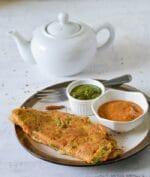 Oats Chilla Recipe, Healthy Oats Vegetable Cheela