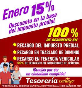 #descuentos predial
