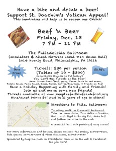 Beef n Beer flyer Menu