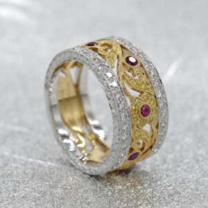 Ruby Diamond Bandeau Ring