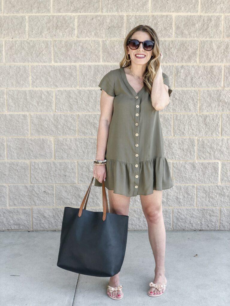 Amazon Peplum Dress Madewell Transport Tote Stella & Dot Mama Necklace