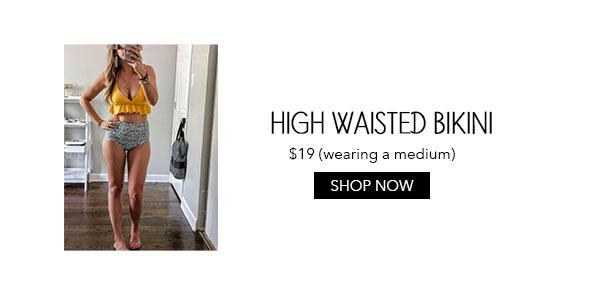 Amazon Yellow High-Waisted Bikini