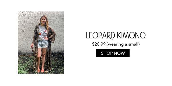 Amazon Leopard Kimono