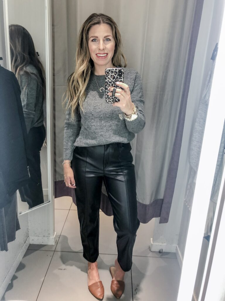 H&M 2019 Fall Collection Leather Trousers