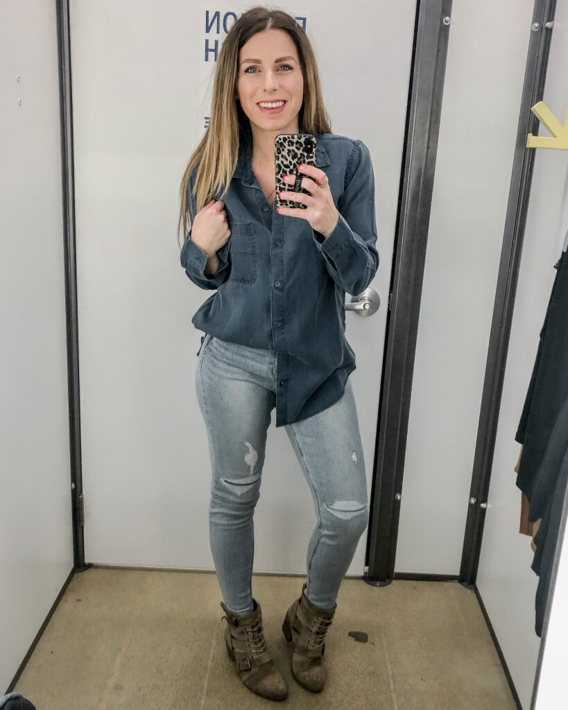 Tencel Shirt Denim on Denim Outfit