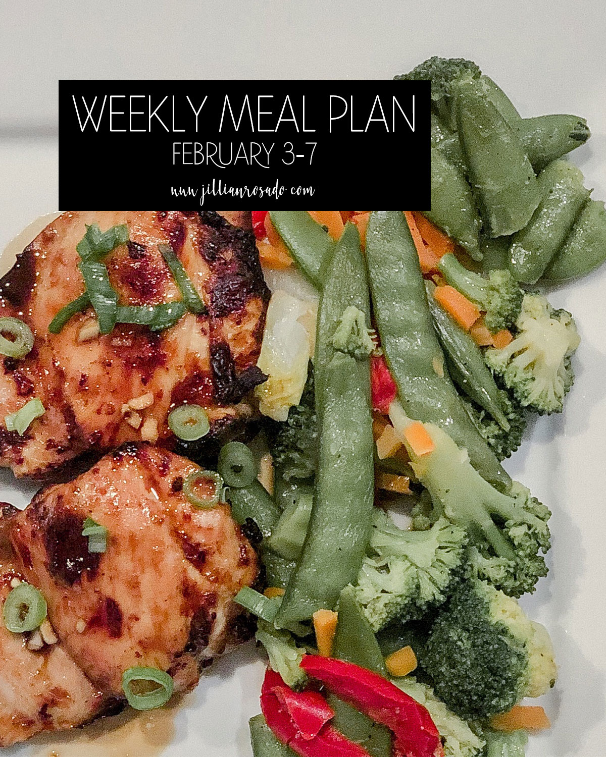 My Weekly Meal Plan Jillian Rosado F-Factor Dinner Recipes