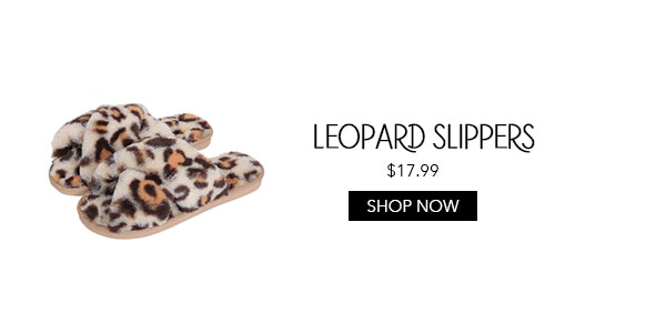 leopard slide slippers