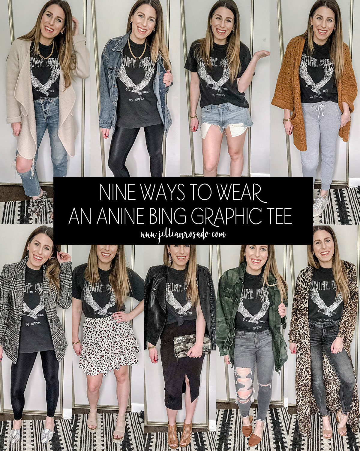 How To Style The Anine Bing Eagle Graphic Tee