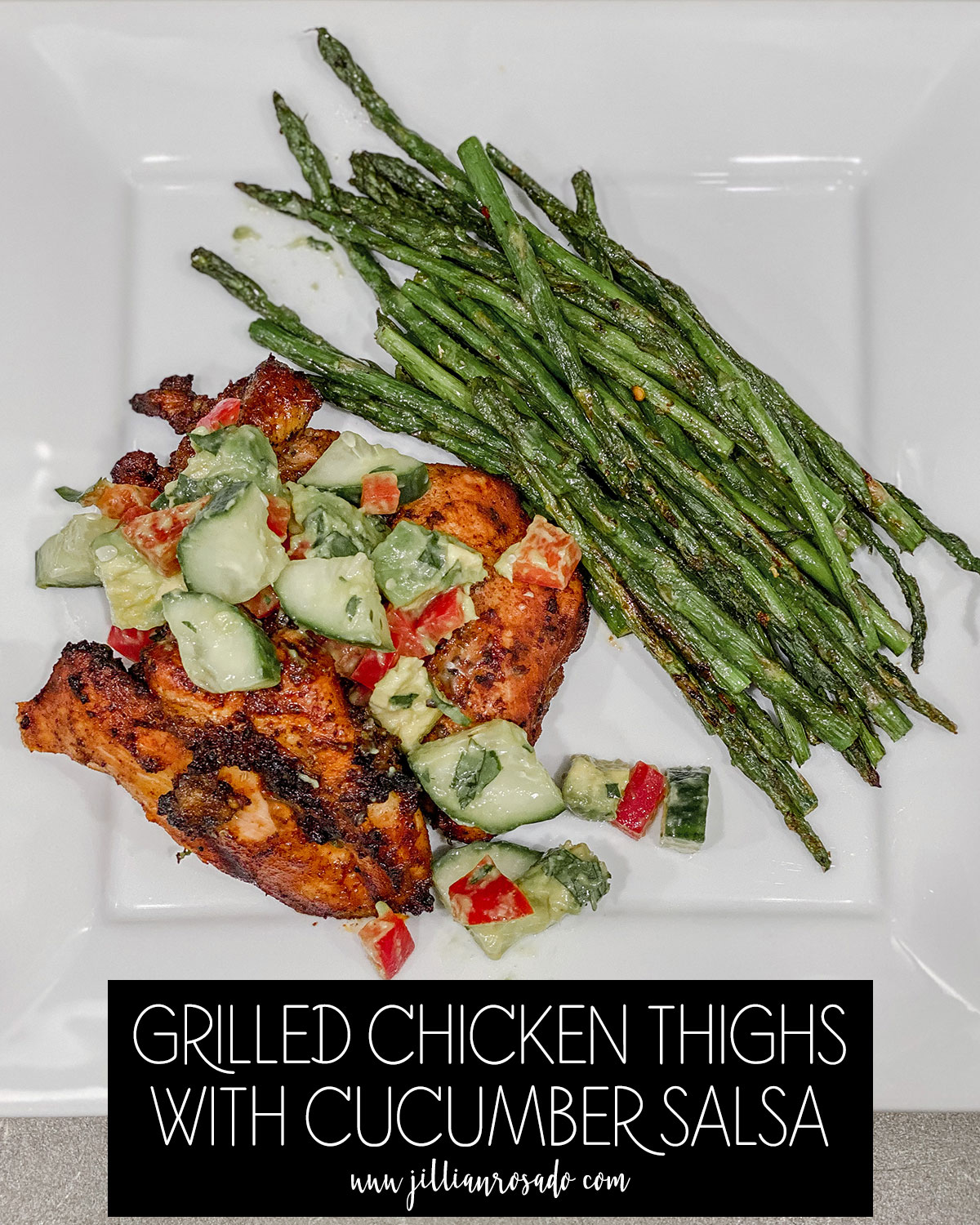 Grilled Chicken Thighs with Cucumber Salsa
