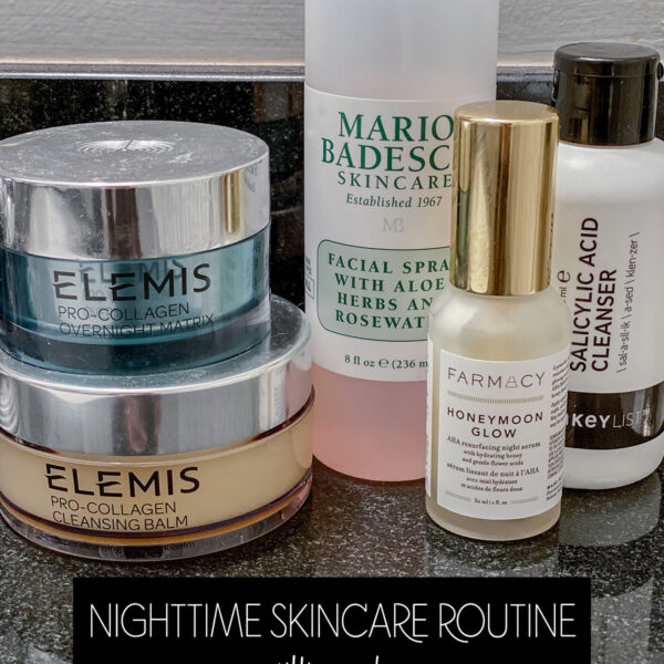 Nighttime Skincare Routine Elemis The Inkey List Farmacy Honeymoon Glow Mario Badescu
