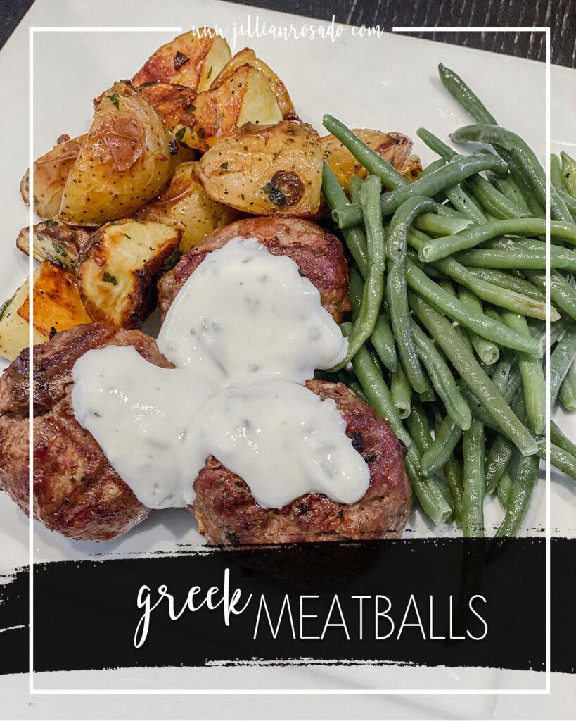 Greek Meatballs with Yogurt Sauce