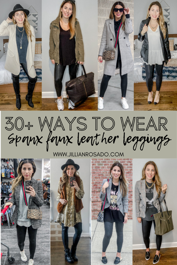 Spanx Faux Leather Leggings Outfit Ideas