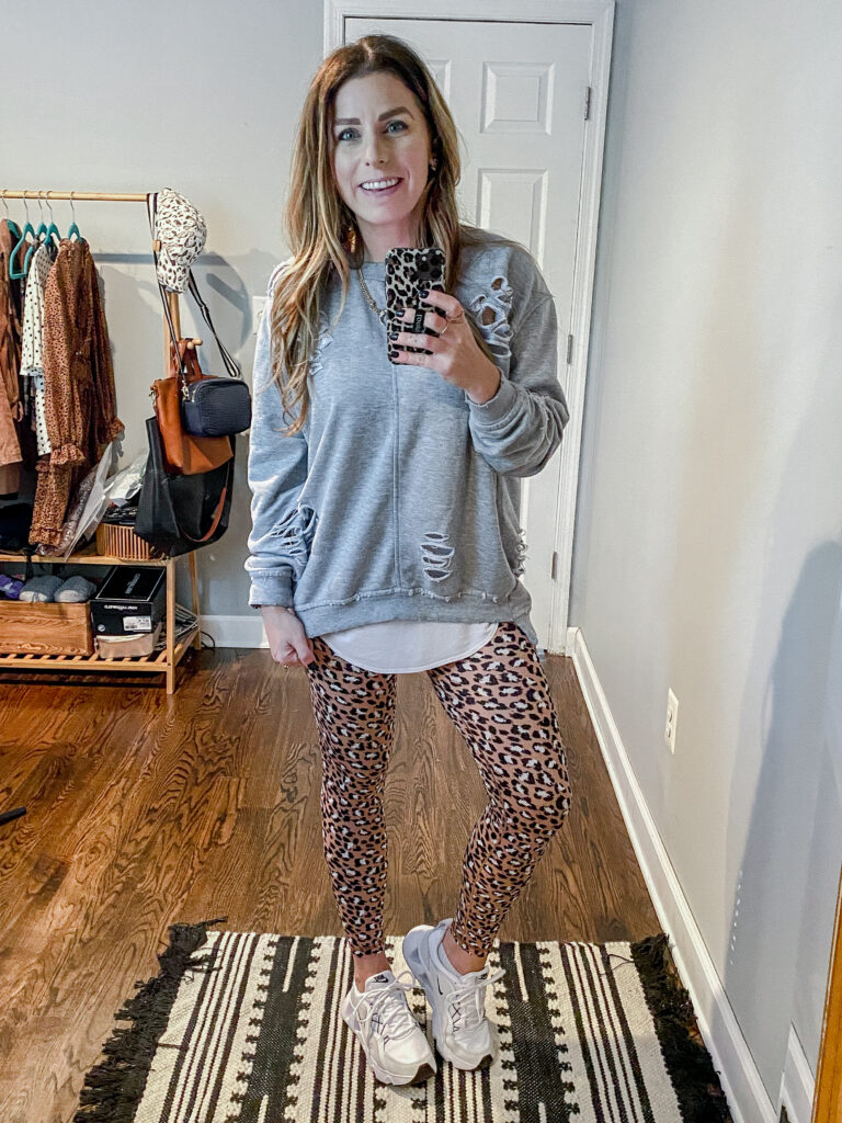 Aerie OFFLINE Real Me High Waisted Crossover Leopard Legging