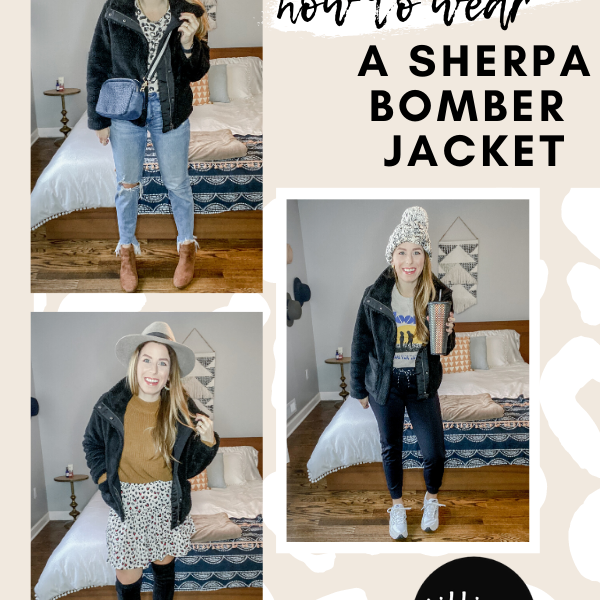 How To Wear A Sherpa Bomber Jacket Outfit Ideas