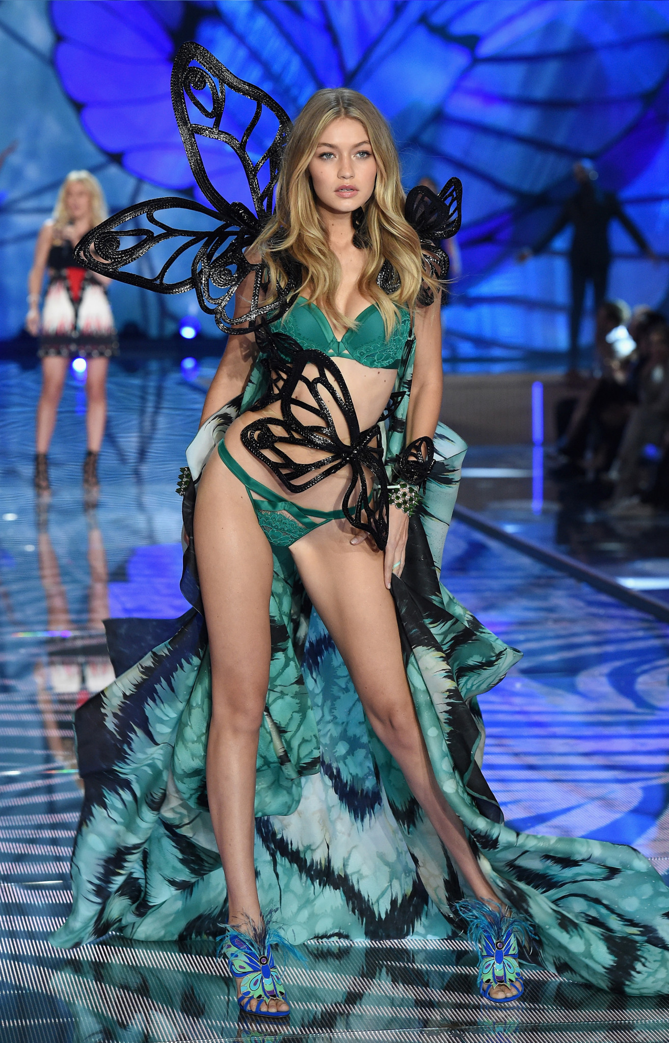 NEW YORK, NY - NOVEMBER 10: Model Gigi Hadid walks the runway during the 2015 Victoria's Secret Fashion Show
