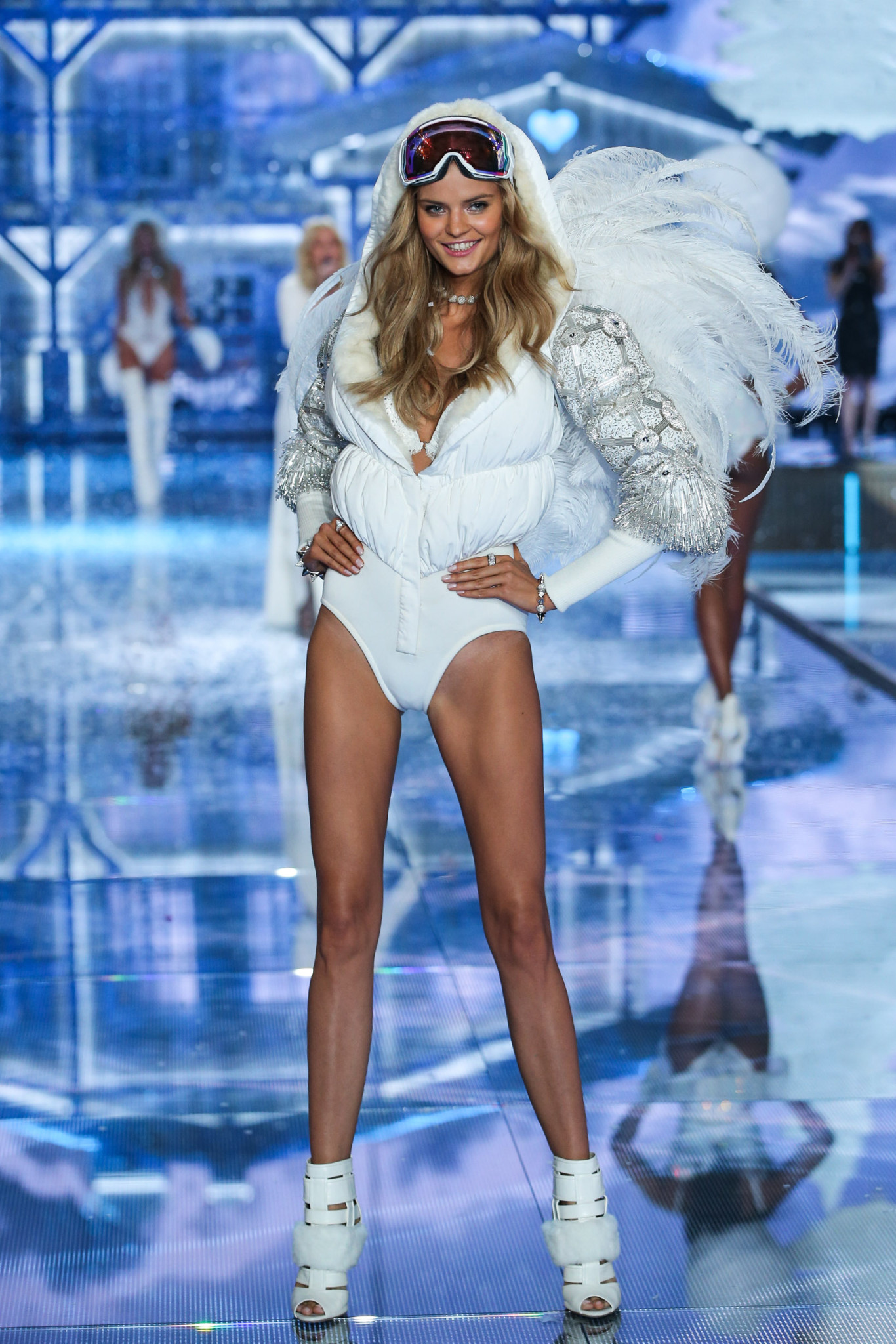 Model and new Angel Kate Grigorieva walks the runway at the 2015 Victoria's Secret Fashion Show in New York City on November 10th, 2015