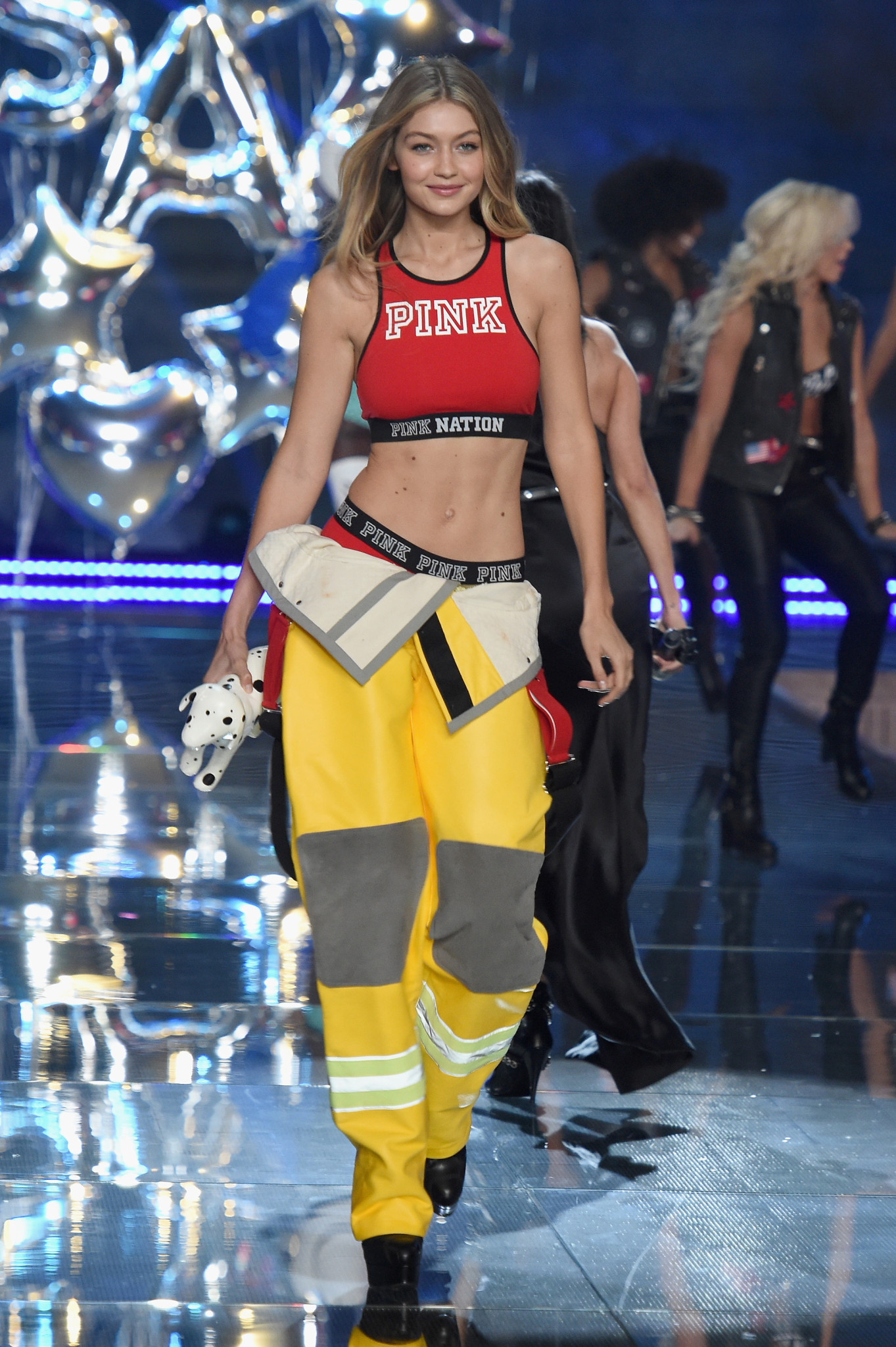 NEW YORK, NY - NOVEMBER 10: Model Gigi Hadid from California walks the runway during the 2015 Victoria's Secret Fashion Show at Lexington Avenue Armory on November 10, 2015 in New York City. (Photo by Dimitrios Kambouris/Getty Images for Victoria's Secret) *** Local Caption *** Gigi Hadid