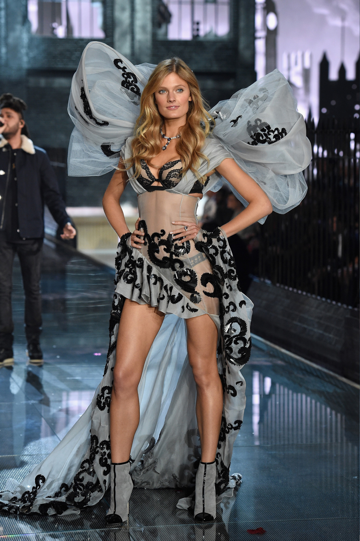 NEW YORK, NY - NOVEMBER 10: Model Constance Jablonski from France walks the runway during the 2015 Victoria's Secret Fashion Show at Lexington Avenue Armory on November 10, 2015 in New York City.