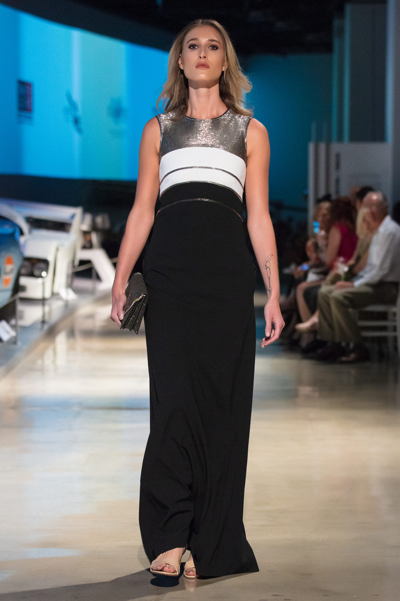 Model on the runway for Escada Spring LAFW LA Fashion Week
