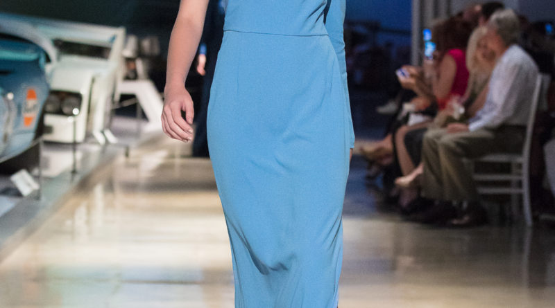 Model on the runway for Escada Spring LAFW LA Fashion Week