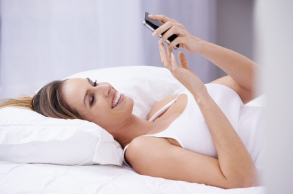 Enjoying SnorEraser In Bed