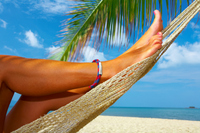view of nice smooth womans legs in tropical bliss