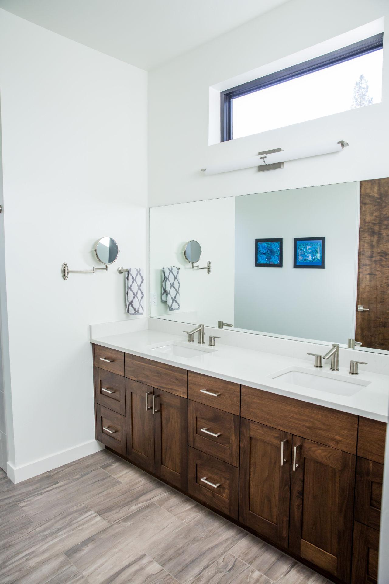 custom home construction, new bathroom