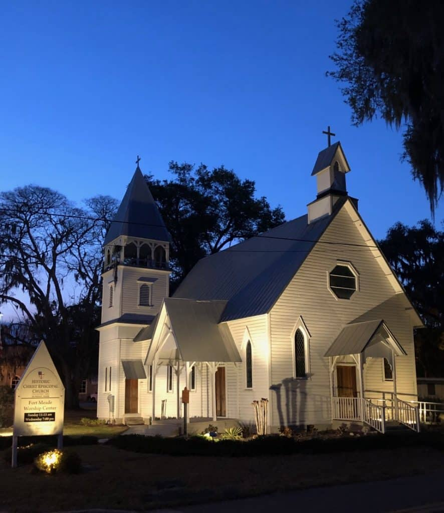 The little white church of Fort Meade