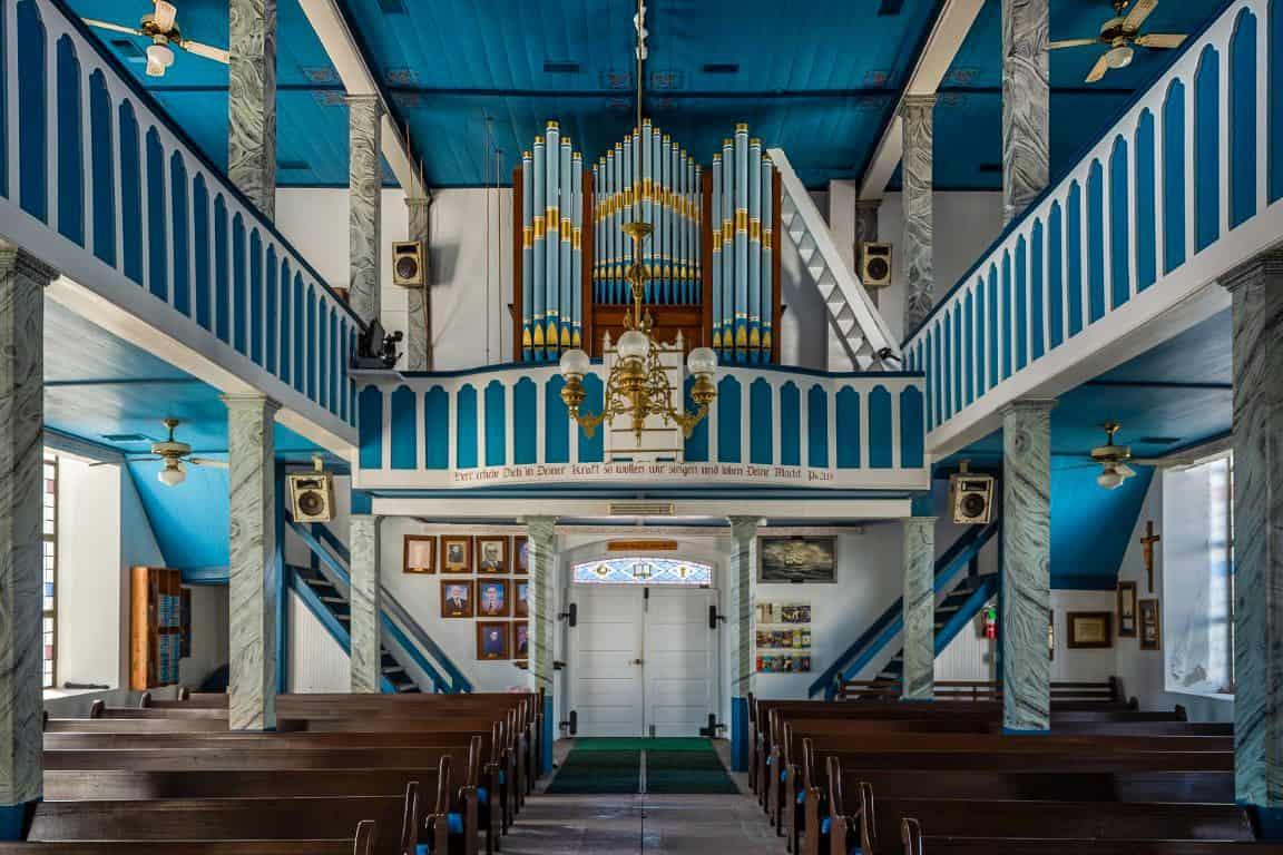 interior photograph of church