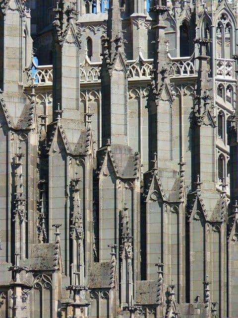 Exterior gothic church
