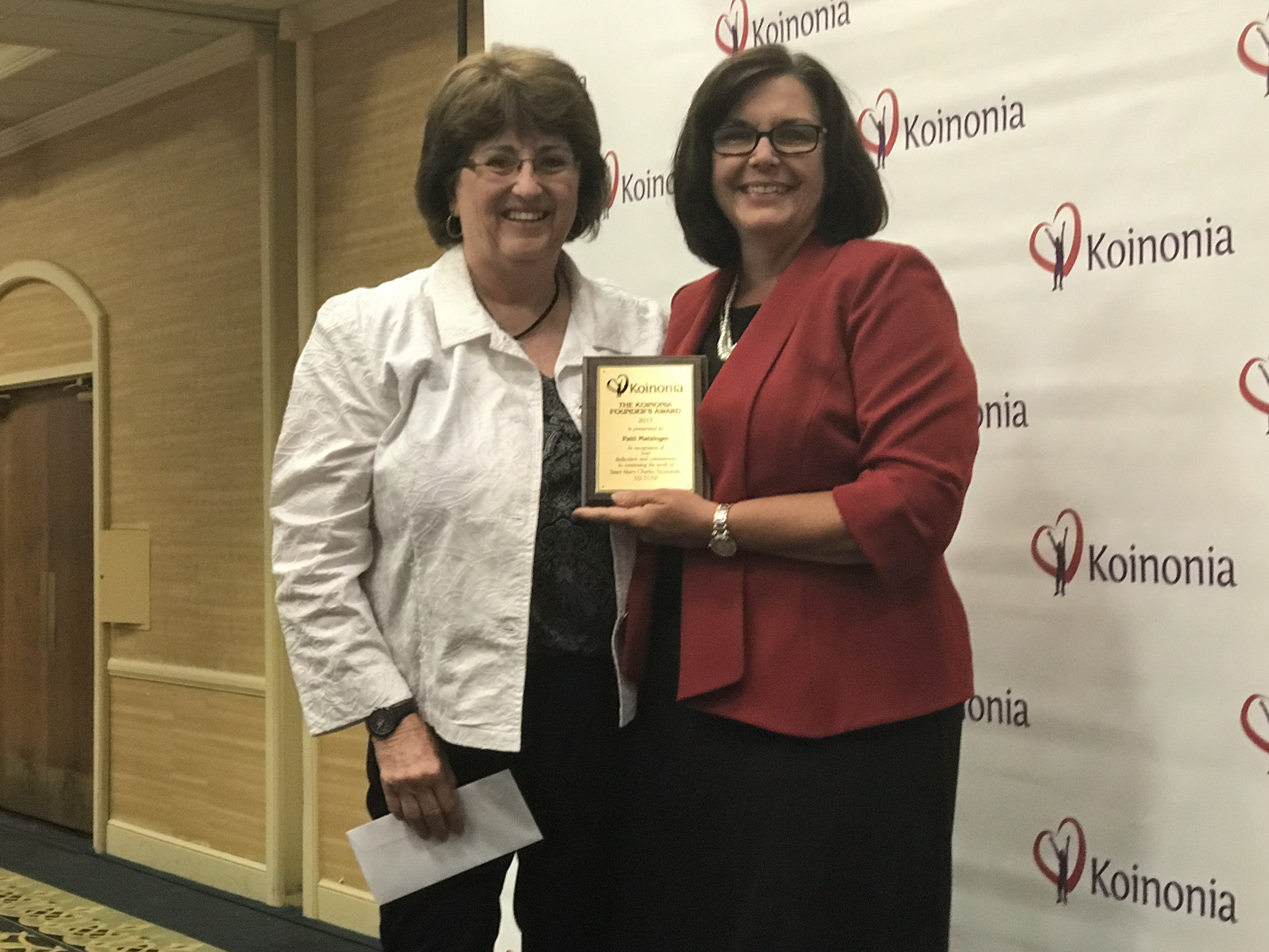 Patti Matzinger is the 2017 Founders Award Winner Management Category