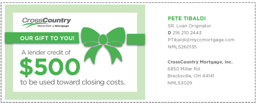 CrossCountry Mortgage Lender Coupon