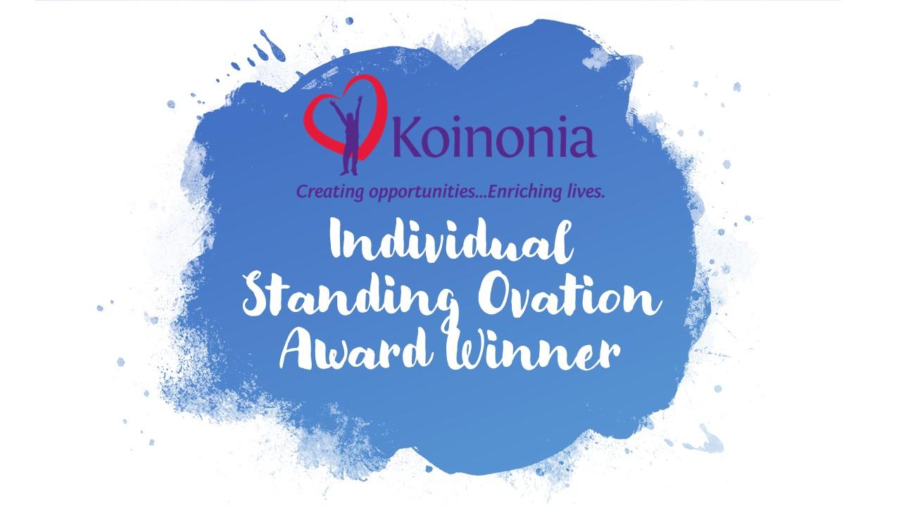 Koinonia's Outstanding Ovation Award Winners!