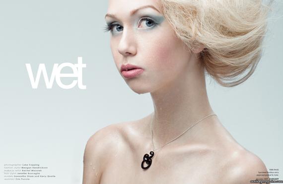 beauty editorial : wet