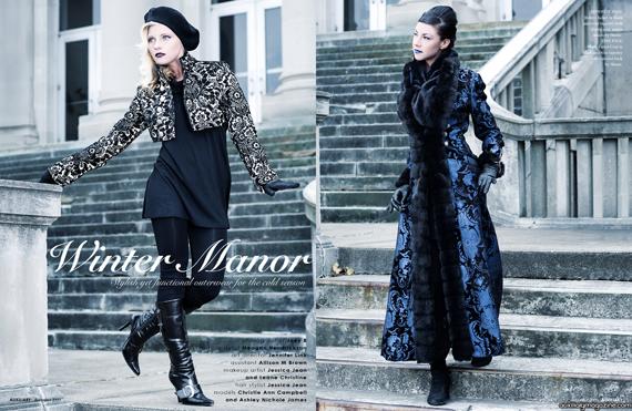 fashion editorial : winter manor