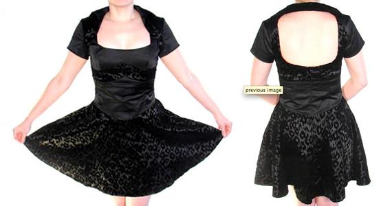 item of the week : cigarette girl flare mini dress