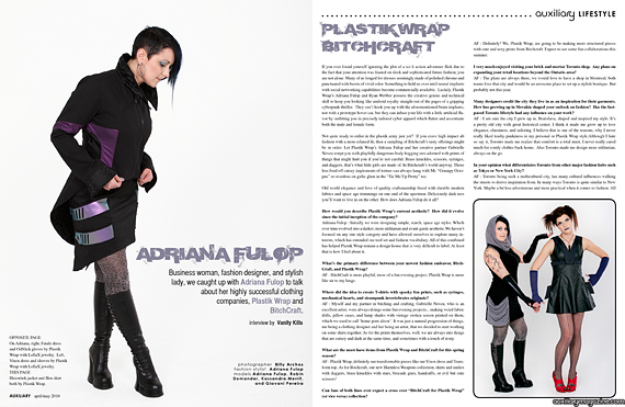 interview : Adriana Fulop of Plastik Wrap and BitchCraft