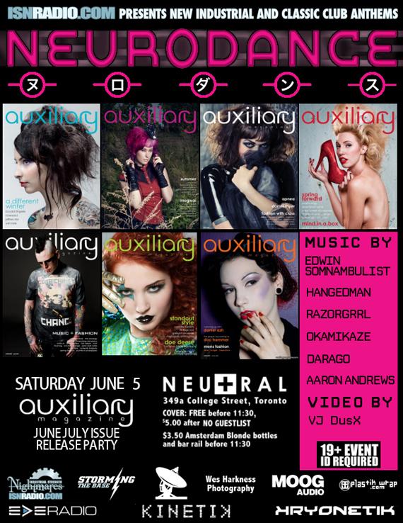 neurodance june/july issue release party