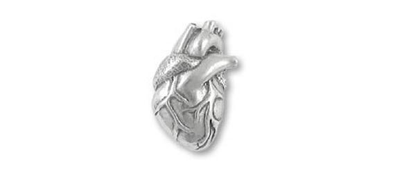 item of the week : human heart lapel pin by Pushin Daisies