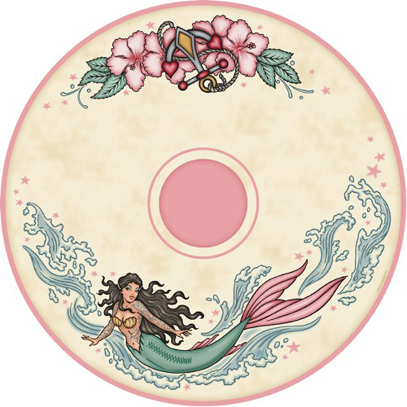 item of the week : tattoo mermaid parasol by Retro-a-go-go!