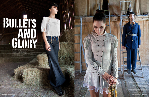 fashion editorial : bullets and glory