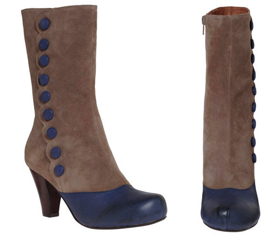 item of the week : blue button beauty boot by Jeffrey Campbell