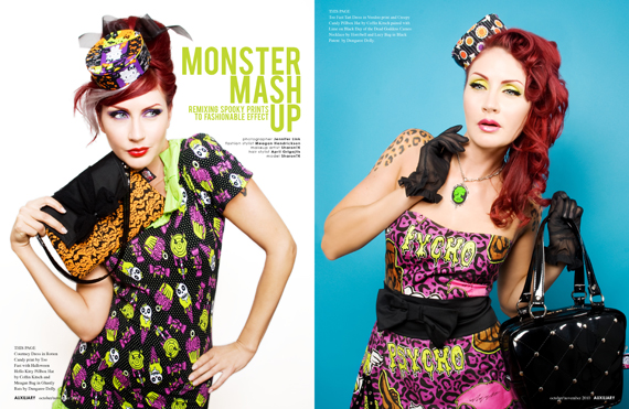 fashion editorial : monster mash up