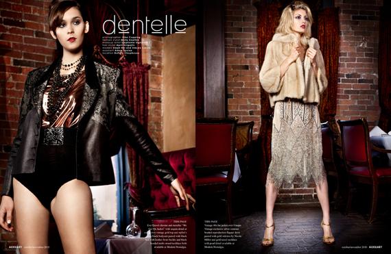 fashion editorial : dentelle