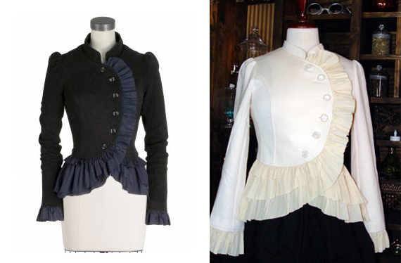 item of the week : bewitched, bothered, and beruffled jacket by Clockwork Couture