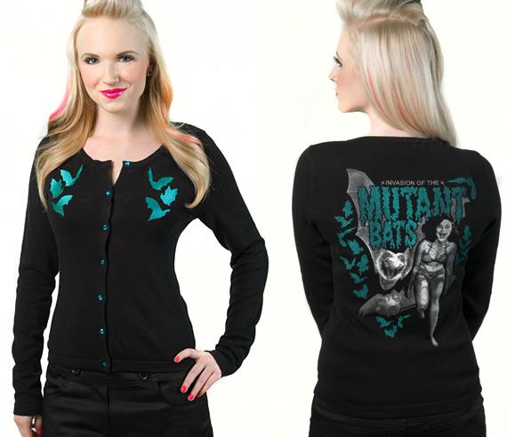 item of the week : mutant bats cardigan by Sourpuss Clothing