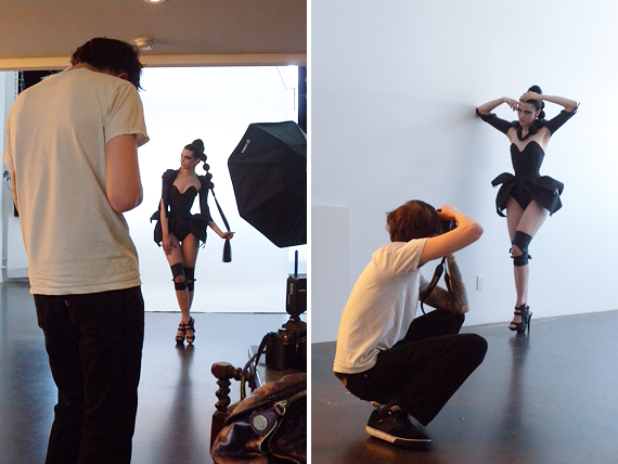 behind the scenes : Dec/Jan 2010/2011 PinUp feature